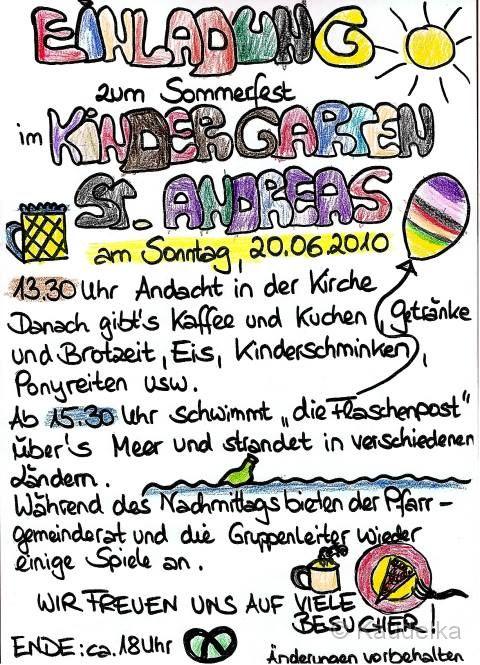 Einladung Sommerfest Kindergarten – biblesuite.co