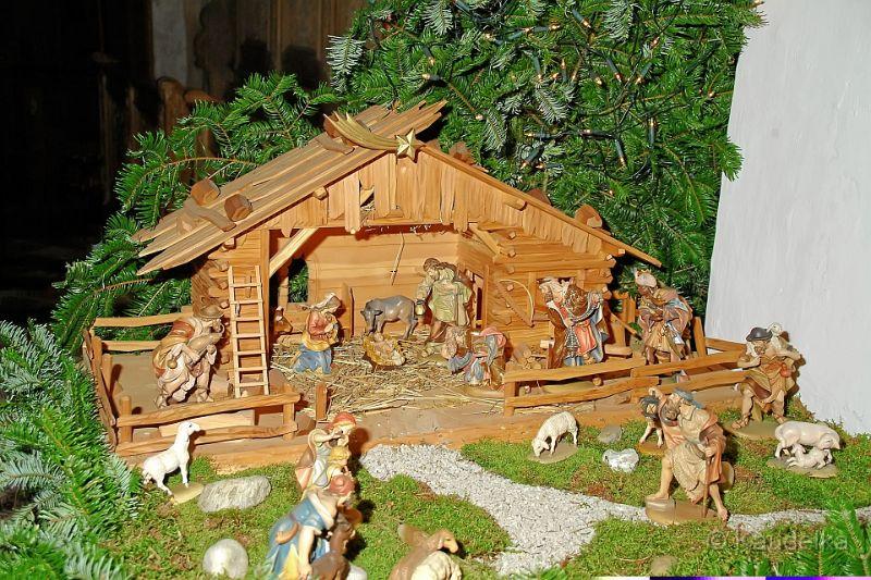 Christbaum Und Krippe In Der Kirche 03   Christbaum Und Krippe In Der  Kirche